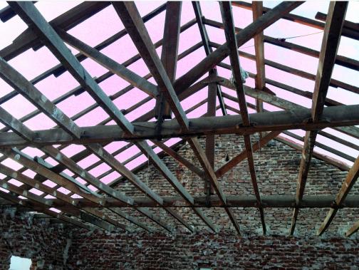 Estructura de madera expuesta